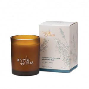 Soy Wax Candle - Rosemary, Cedarwood & Lavender Bud