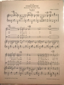 Hawaiian Sheet Music: 'Songs Of Hawaii: Uheuhene'