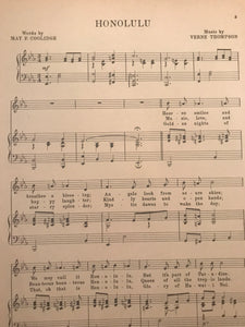 Hawaiian Sheet Music: 'Honolulu'