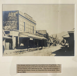 1862 Vintage Photograph Of Fort Street From King Street Honoulu Hawaii
