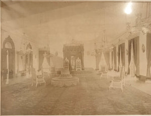 1885 Vintage Albumen Photograph Of Inside Iolani Palace
