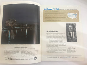 United Air Lines Sept. 1965 Mainliner In Flight Magazine Special Issue Hawaii
