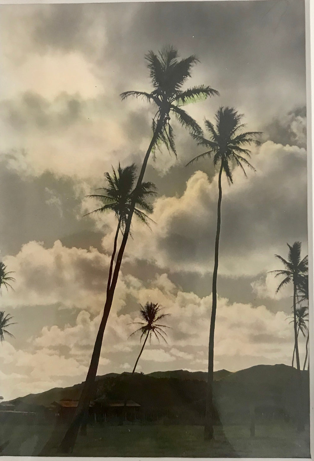 1920's Hand Colored  Silver Print Photograph Of Hawaii Kai By RW Oakes