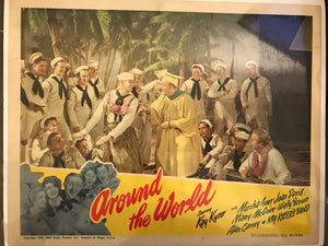 "Vintage Lobby Card From ""Around the World"""