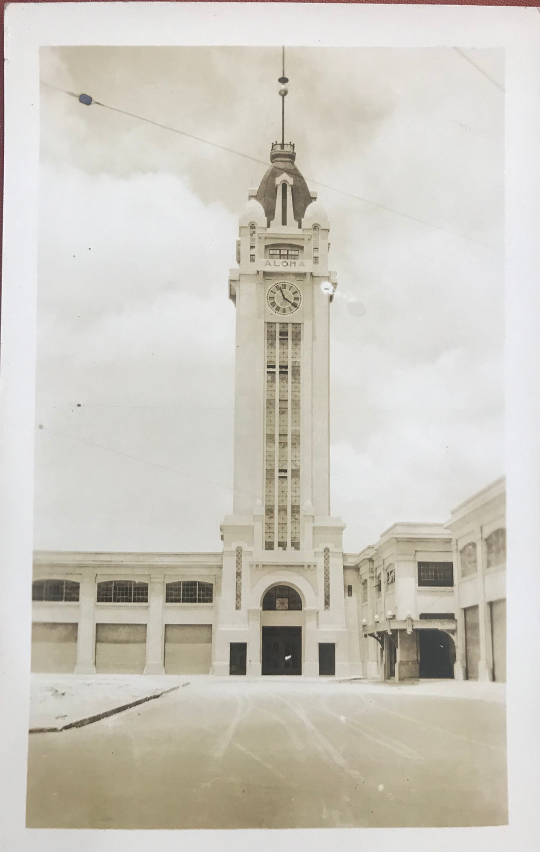 Vintage Real Photo Post Card Of Aloha Tower Honolulu, Hawaii