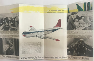 1950's Northwest Orient Airlines Travel Brochure To Hawaii