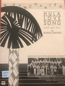 Hawaiian Sheet Music: 'Hula Love Song'