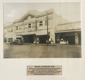 1941 Vintage Photograph Of Hotel Stables, Honolulu Hawaii
