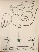 1953 Christmas Card With An Original Drawing by Jean Charlot, Signed
