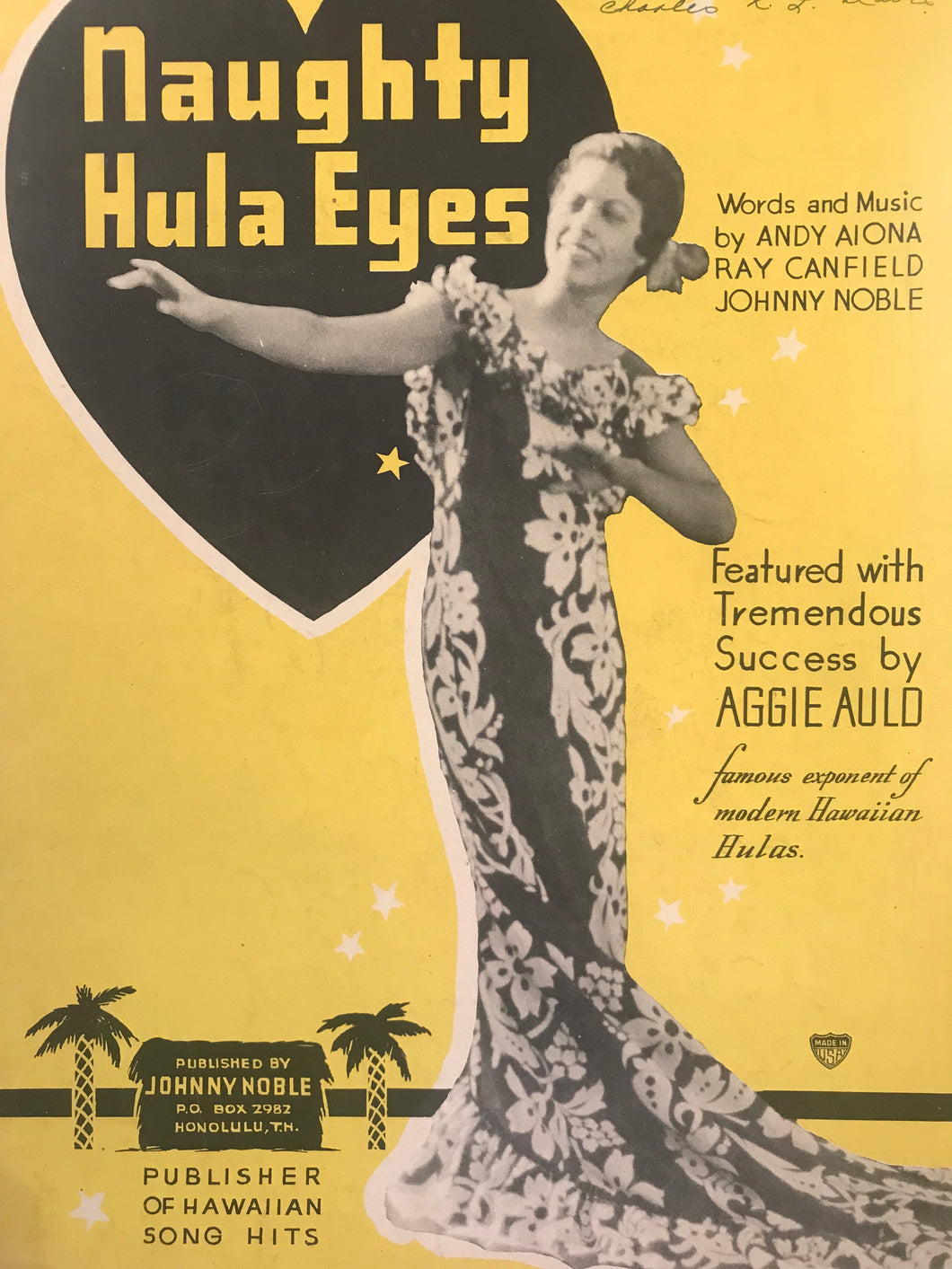 Hawaiian Sheet Music: 'Naughty Hula Eyes'
