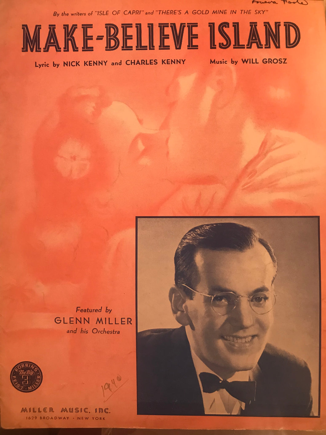Hawaiian Sheet Music: 'Make-Believe Island'