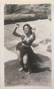 Vintage Hula Girl Photograph From Hawaii