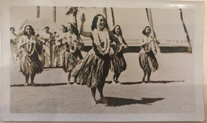 Vintage Hula Girls Photograph From Hawaii
