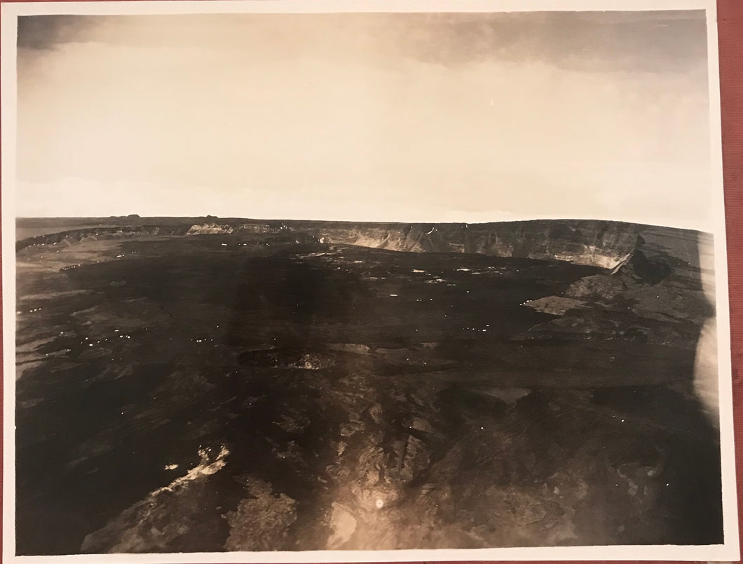 1923 Vintage Photograph of Volcano, Hawaii