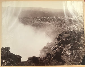 Vintage 1880's Albumen Photograph of Kilauea Volcano, Hawaii