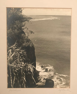 1920's Vintage Signed Photograph By W.J. Sands Of Kalihiwai, Hawaii