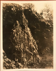 1923 Vintage Photograph of Hardened Lava Flow in Volcano Hawaii