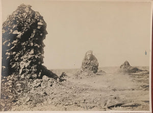 Vintage Photograph of Lava Formations At Kilauea Volcano, Hawaii
