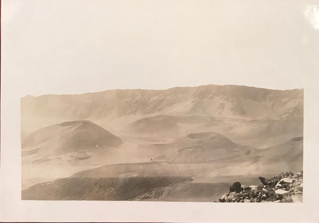 1923 Vintage Photograph of Haleakala Maui Hawaii
