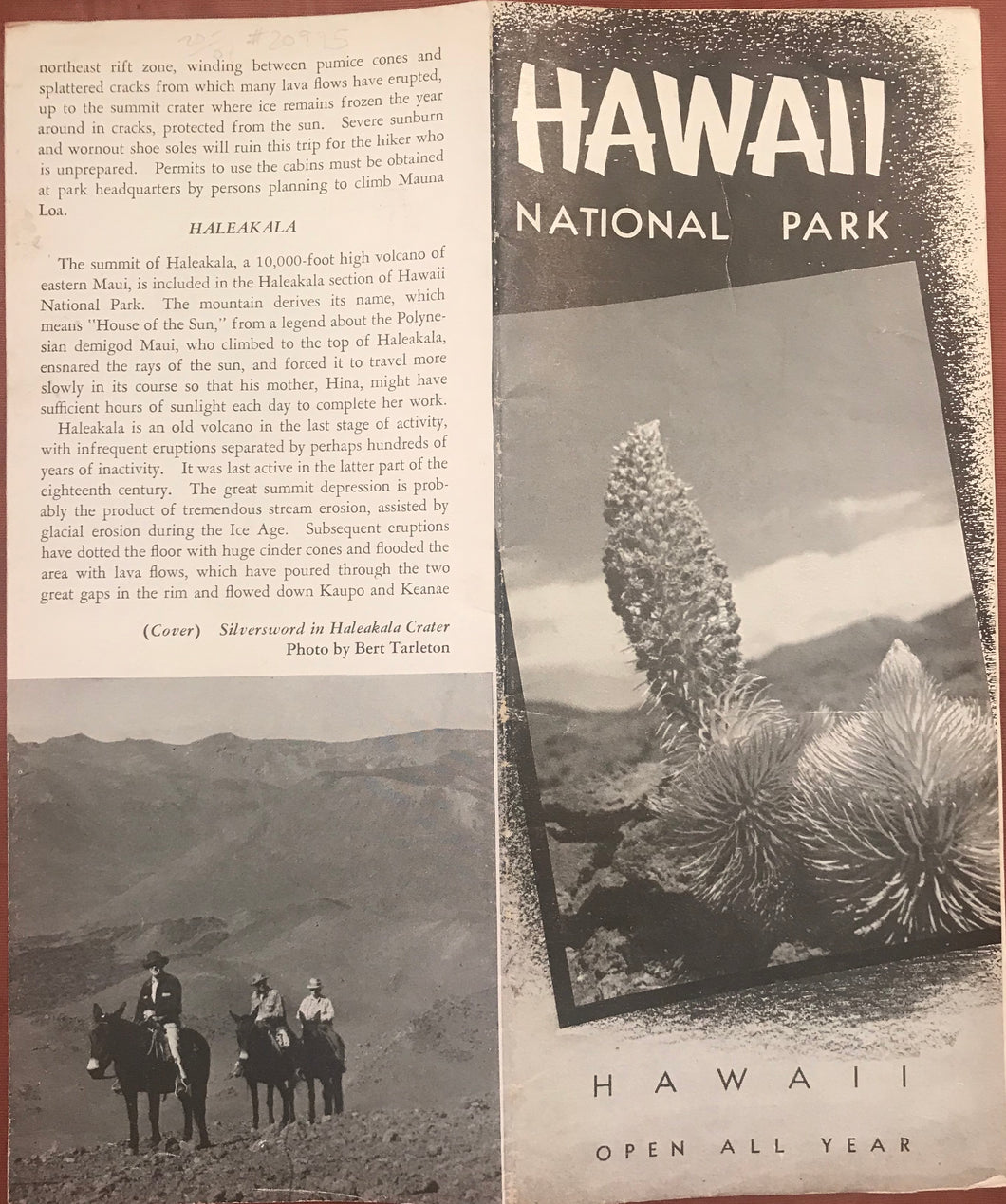 1949 Hawaii National Park Brochure