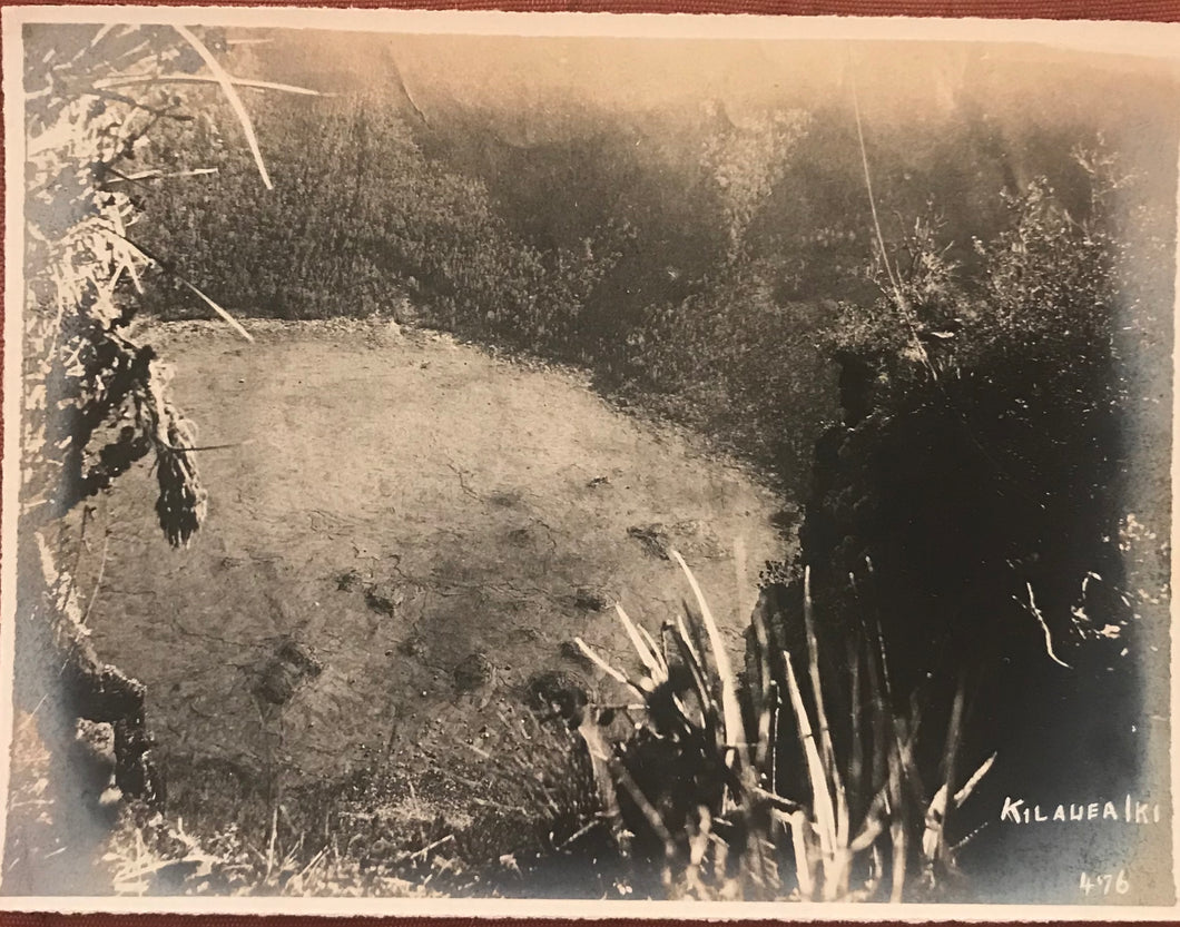 Vintage Photograph Of Kilauea Iki Hilo, Hawaii