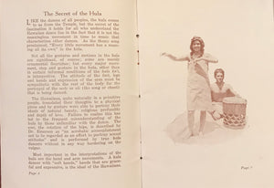 "1930 Vintage Book ""The Hula; Interpreted, Illustrated"""