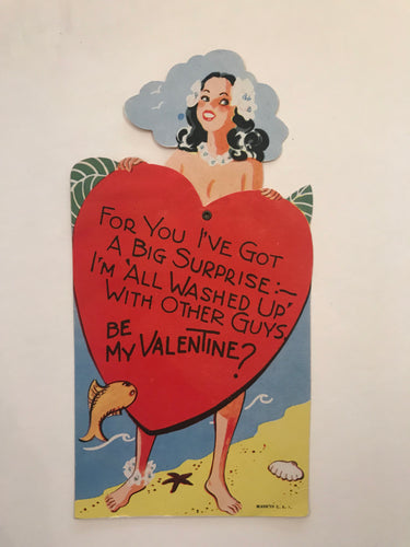 Vintage 1940's Hawaiian Valentine, Holiday