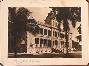 1920's Vintage Photograph of The Old Palace, Oahu Hawaii