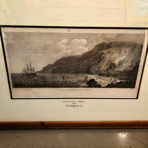 1784 First Edition Cook's Voyages John Webber Etching: 'A VIEW OF KARAKAKOOA'