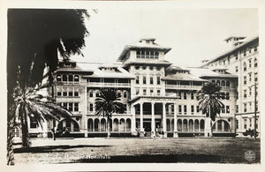 Vintage Real Photo Post Card Of The Moana Hotel, Hawaii