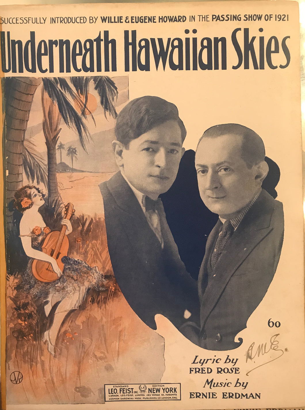 Hawaiian Sheet Music: 'Underneath Hawaiian Skies'