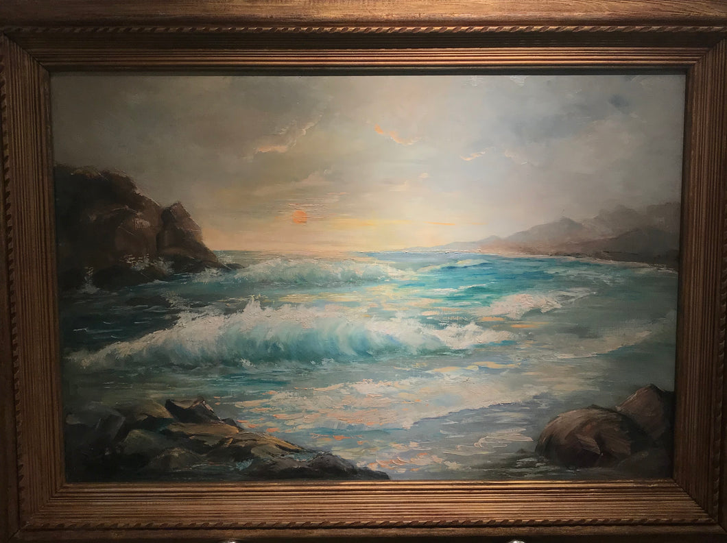 Beautiful Original Oil Painting On Canvas Of Haleiwa, Hawaii