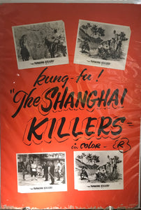 "Original ""The Shanghai Killers"" Movie Poster, From Toyo Theatre, Hawaii, Kung-Fu"