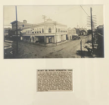 1901 Vintage Photograph Of Fort Street & King Street Honolulu Hawaii