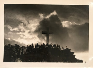 Vintage Photograph Of Easter Services At Punchbowl, Oahu, Hawaii