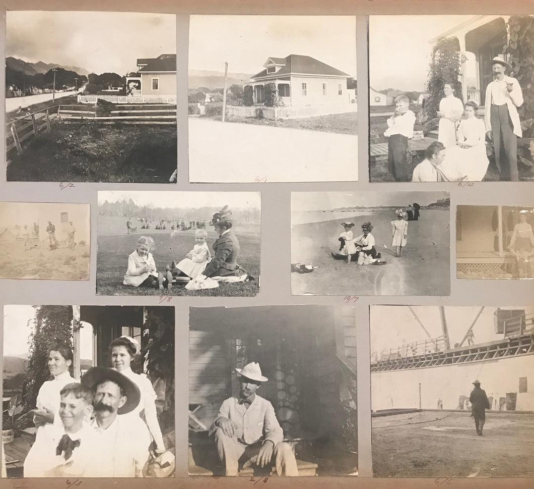 1890's Vintage Photographs Of Hawaii, Family, Beach And Boat Scenes