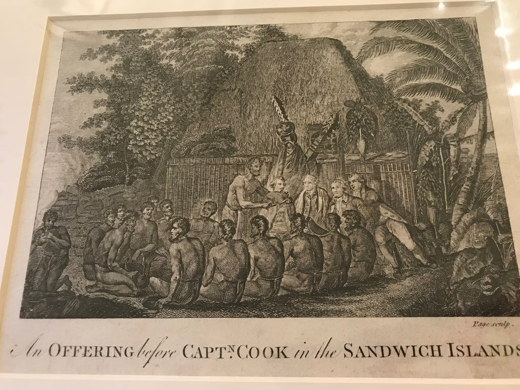 18th Century Original Engraving 'OFFERING TO COOK'