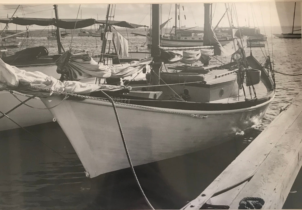 1930's Vintage Weston Photograph Boats In Hawaii
