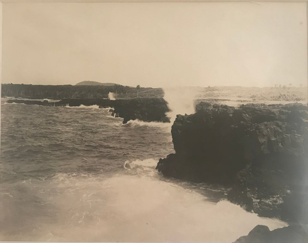 1920's Vintage Photograph Of Cliffs In Samoa