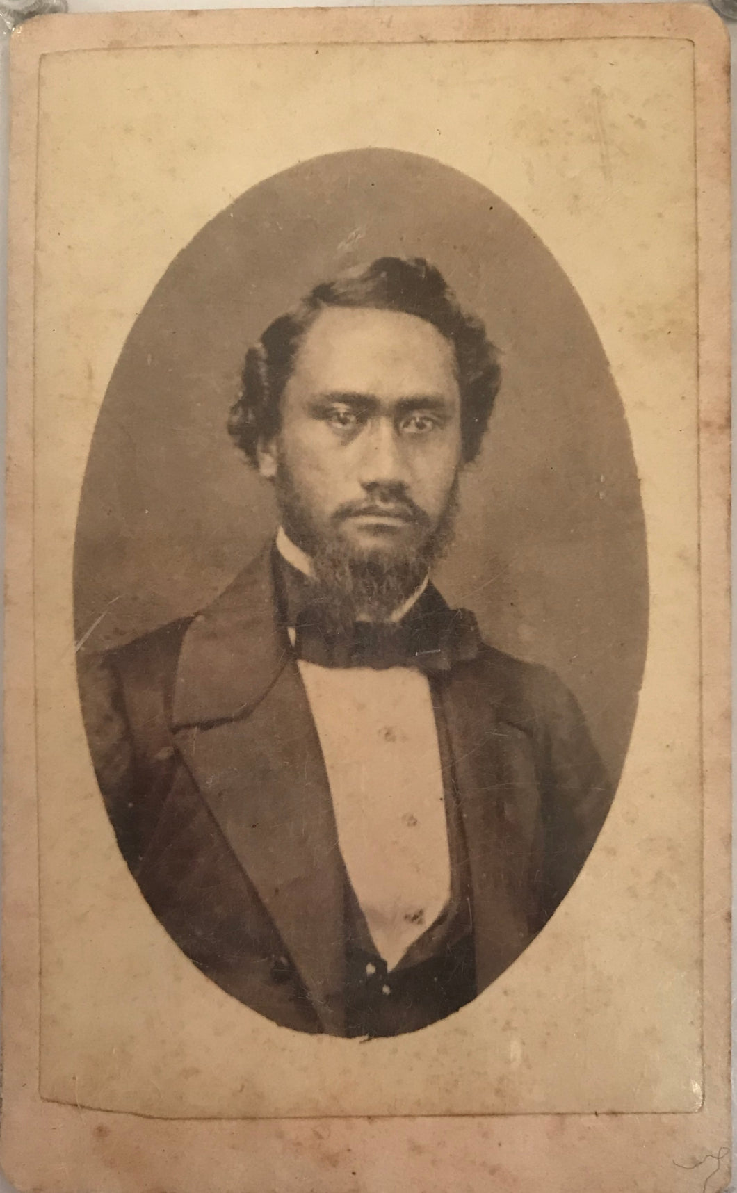 1850s Rare Cabinet Card of King Kamehameha IV by Williams