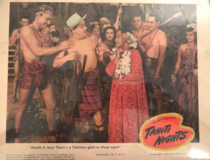 "Set of 8 Lobby Cards From ""Tahiti Nights"""
