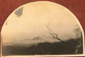 1910 Vintage Silver Photograph By A R  Gurrey Of Diamond Head From Tantalus