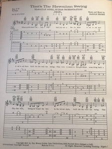 Hawaiian Sheet Music: That's The Hawaiian Swing'