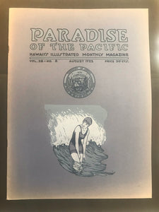 Paradise Of The Pacific, Hawaii's Illustrated Monthly Magazine August 1925