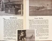 Rare Vintage Surfing Pamplet From The Waikiki Beach Patrol