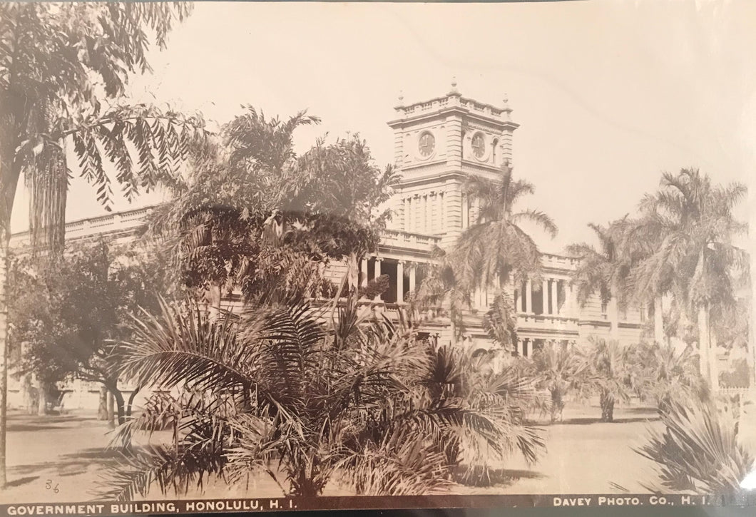 1880's Vintage Albumen Photograph Of Iolani Palace By Davey