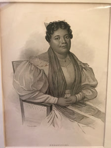 1845 Original Engraving 'Queen Kekauluohi' by the US. Exploring Expedition