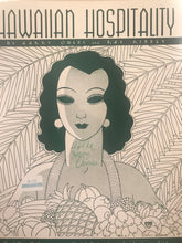 Hawaiian Sheet Music: 'Hawaiian Hospitality'  Signed by Harry Owens