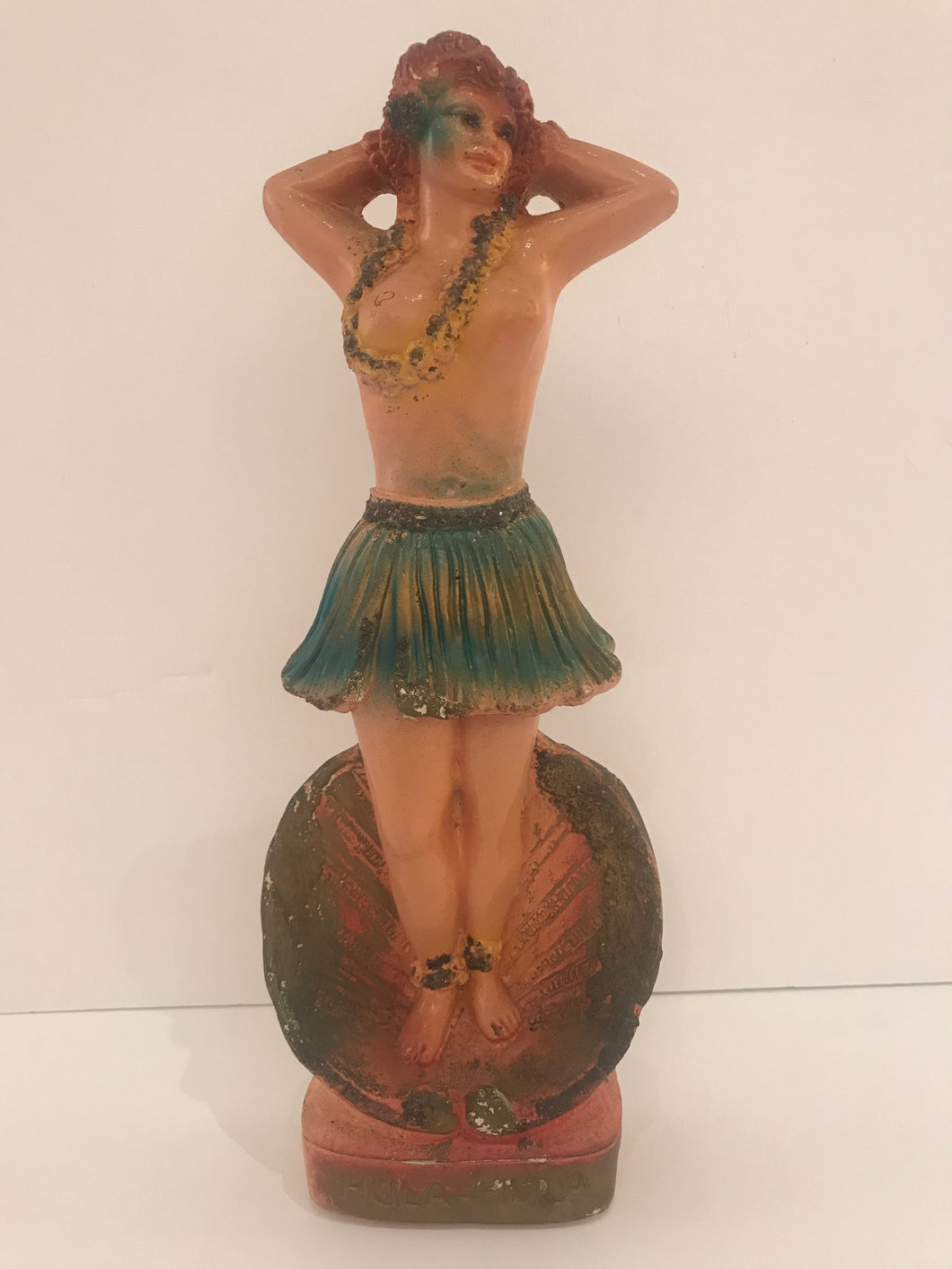 1920's Chalk Hawaiian Hula Figurine