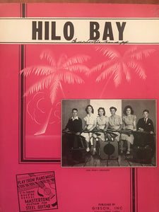 Hawaiian Sheet Music: 'Hilo Bay'